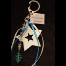 Blue White Anchor Keychain