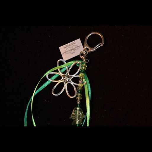 Green Green Flower Keychain