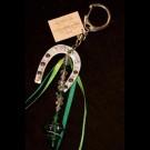 Green Green Horse Shoe Keychain