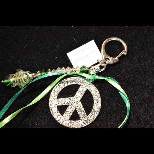 Green Green Peace Keychain