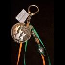 Green Orange Cat Keychain