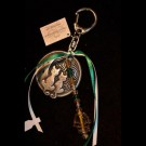 Green White Cat Keychain