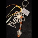Yellow Orange Flower Keychain